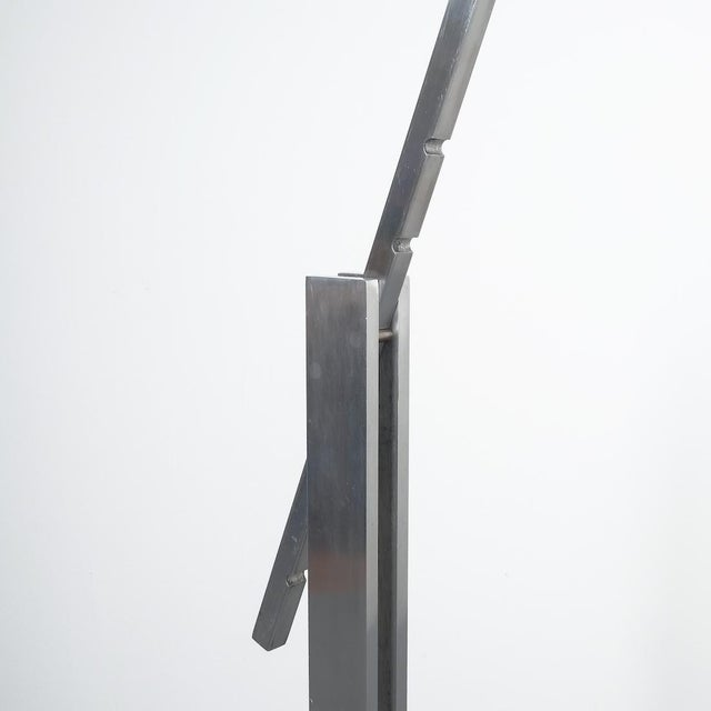 Articulate Aluminum Floor Lamp by Schliephacke for Mewa, Circa 1955 For Sale - Image 9 of 12