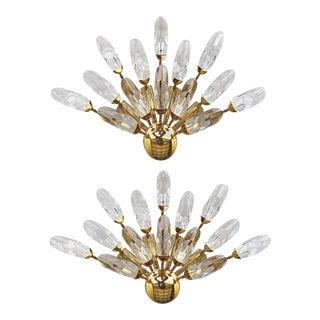 Stilkronen Clear Crystals Italian Sconces - A Pair