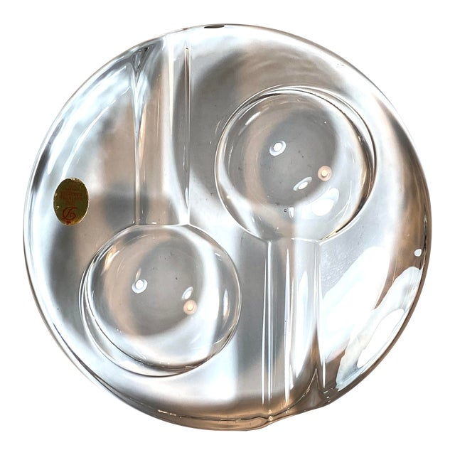 Dresden Round Crystal Double Pipe Rest Holder For Sale