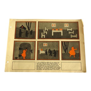 1930s Goldilocks & The Three Bears Art Deco Print Character Culture Citizenship Guides For Sale