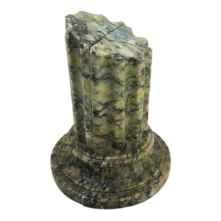 Green Marble Broken Column Bookends