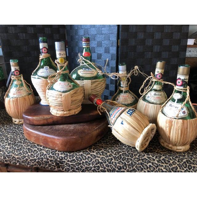 Vintage Italian Demijohn Wine Bottles - Set of 8 For Sale - Image 4 of 13
