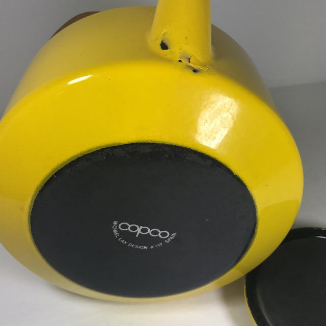 Yellow Copco Mid-Century Tea Kettle For Sale - Image 8 of 9