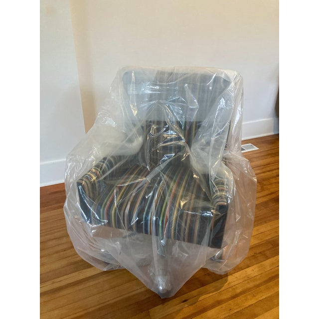 Black J L F Collections Rolling Desk Chair For Sale - Image 8 of 12
