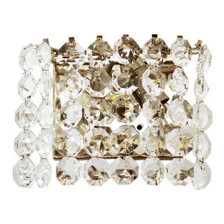 Vintage Crystal Wall Lamp from Austria by Bakalowits, 1960s For Sale