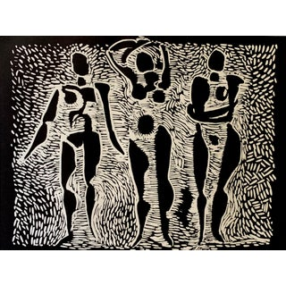 Abstract Figures Etching For Sale
