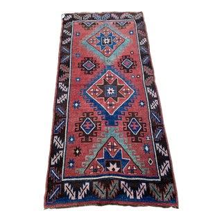 Vintage Kurdistan Wool Rug- 4′3″ × 8′9″ For Sale