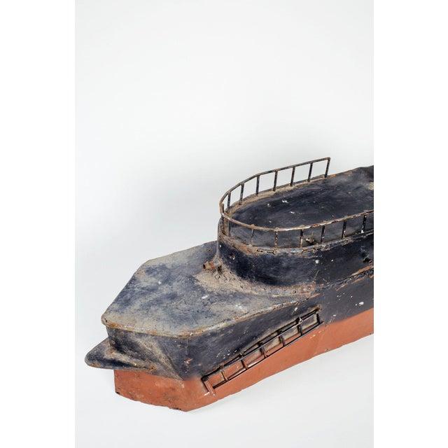 Vintage Metal Steamboat For Sale - Image 4 of 5
