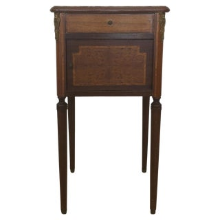 Early 20th Century Antique French Marble Top Nightstand For Sale