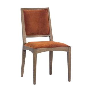 Burnt Orange Velvet Dining Chair For Sale