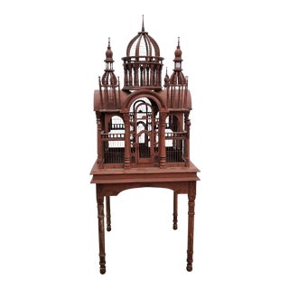 1960s Vintage Cathedral Bird Cage For Sale