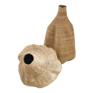 African Calabash Gourds Baskets - a Pair For Sale