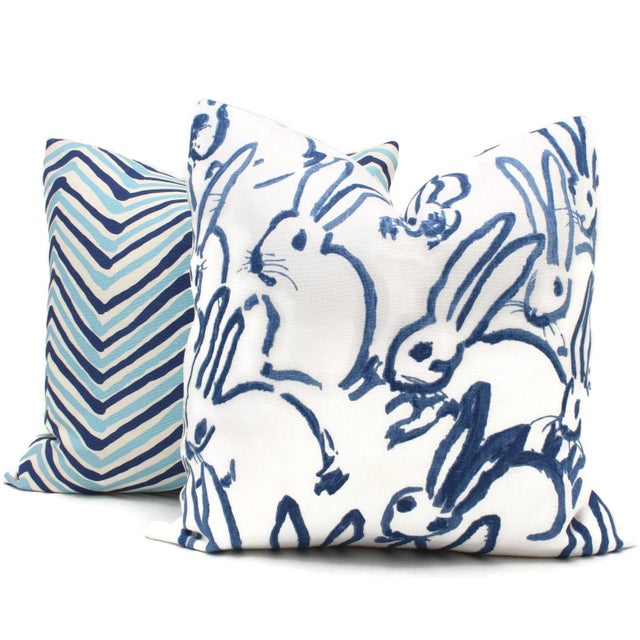 Lee Jofa Groundworks Hutch Blue Bunny Pillow - Image 4 of 6