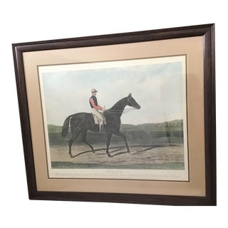 Late 19th Century Equestrian Derby Race Horse Engraving Print Art For Sale