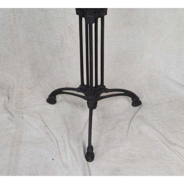 Art Deco Cast Iron Base Table With Pietra Dura Specimen Top and 4 Iron Chairs For Sale - Image 4 of 13