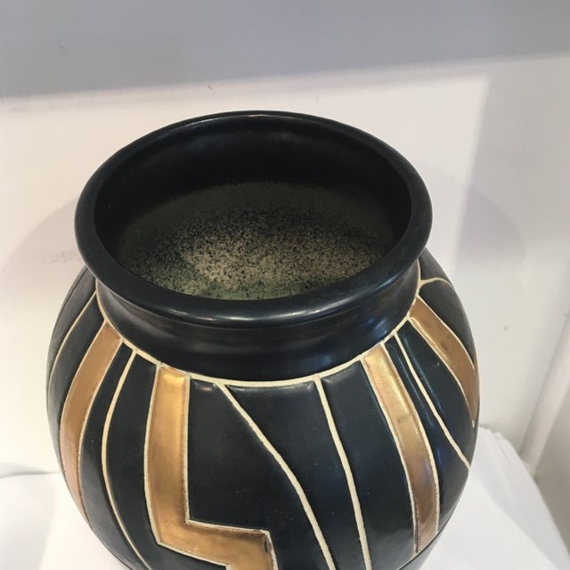 Vintage Black Ceramic Urn - Image 3 of 6