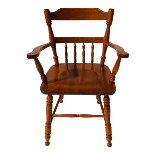 Moose Head Maine Maple Arm-Chair Vintage For Sale
