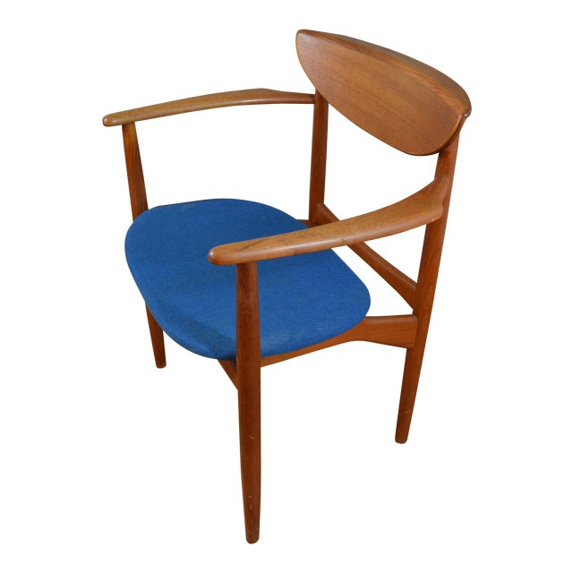 Peter Hvidt & Helge Molgaard Nielsen Danish Teak Arm Chair For Sale