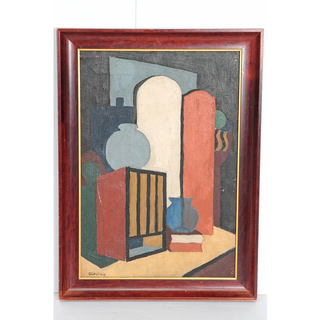 20th Century American Abstract Still Life by Flora Scofield, Oil on Canvas For Sale - Image 12 of 12