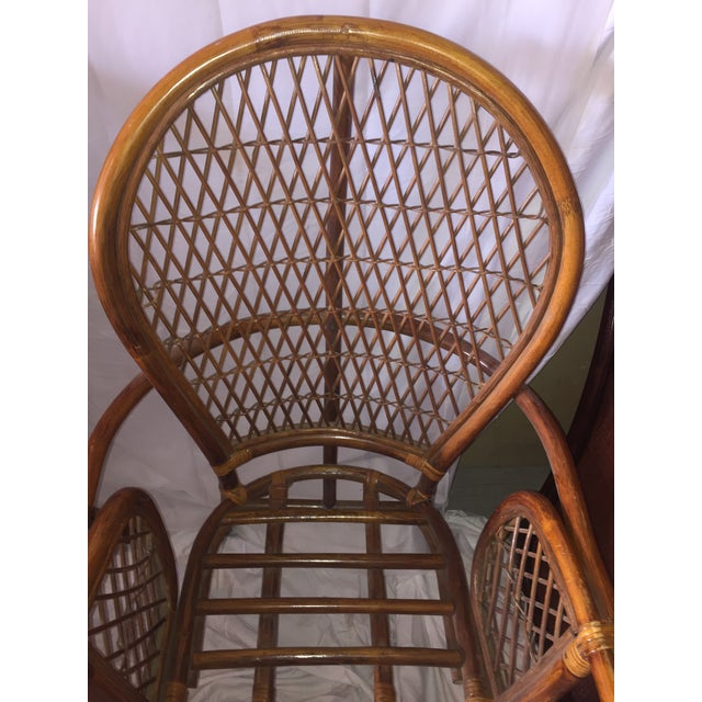 Chinoiserie Chinese Chippendale Rattan Chairs - a Pair - Image 5 of 11