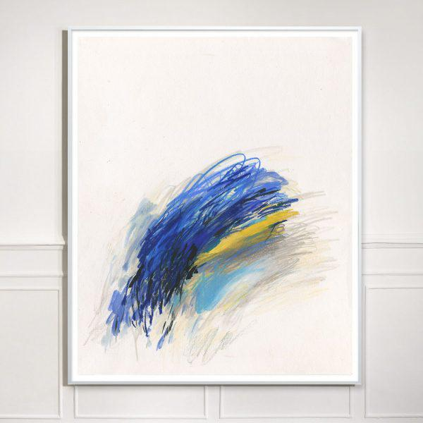 "Abstract ""Blue Notes #12"" Unframed Print For Sale - Image 3 of 3"