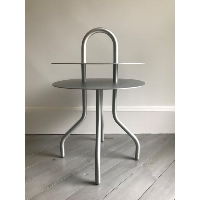 """""""Taco"""" Aluminum Side Table by Francesca Lanzavecchia For Sale In New York - Image 6 of 7"""