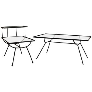 Pair of Frank and Sons Tables in the Style of George Nelson for Arbuck For Sale