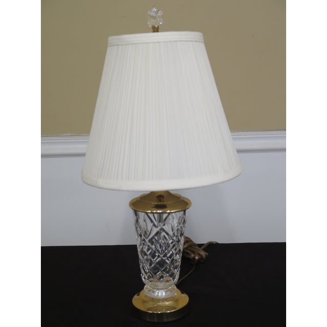 White 1990s Traditional Waterford Crystal Table Lamp With Shade For Sale - Image 8 of 8