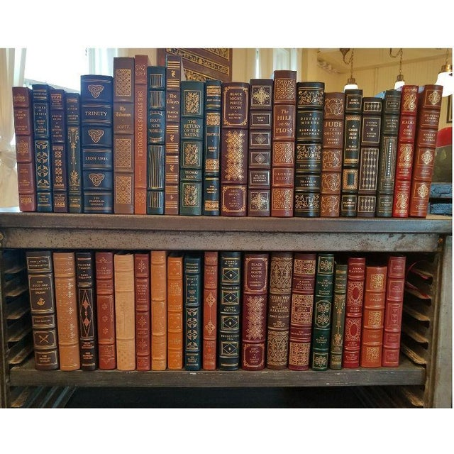 Brown Collection of Franklin/Eaton Vintage Leather Books - Set of 40 For Sale - Image 8 of 8