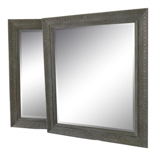 Custom Weathered Gray Mirrors - a Pair For Sale