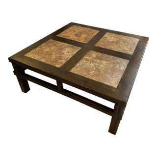 Palecek Crossings Square Coffee Table For Sale
