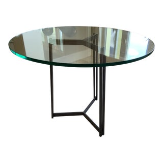 Charleston Forge Glass Top Dining Table For Sale