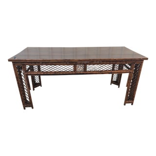 Chinese Imperial Bamboo Garden Table For Sale