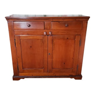 19th Century Early American Pine Jelly Cupboard Cabinet For Sale