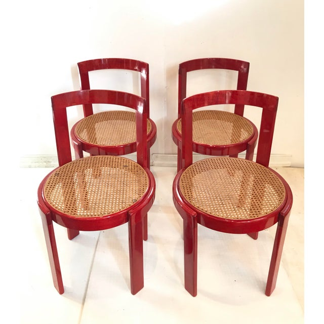 Vintage Italian Dining Chairs in the Manner of Scarpa For Sale - Image 11 of 12