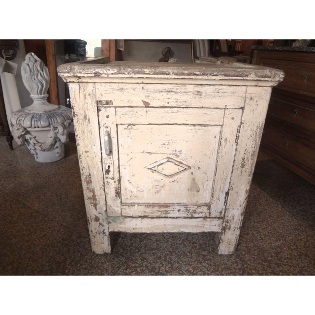 Late 19th Century Rustic French One Door Cabinet For Sale - Image 12 of 12