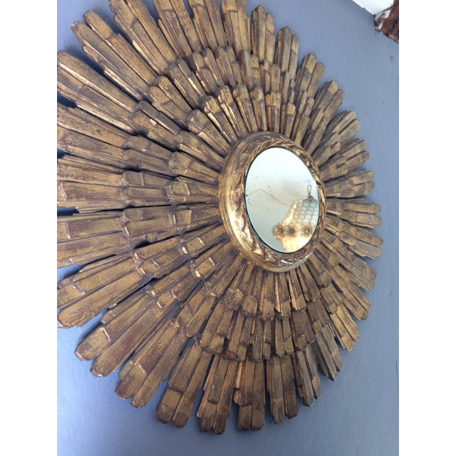 Large Italian Giltwood Sunburst Mirror - Image 4 of 5