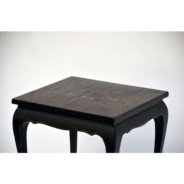 Asian Small Asian Lacquer Side Table For Sale - Image 3 of 6
