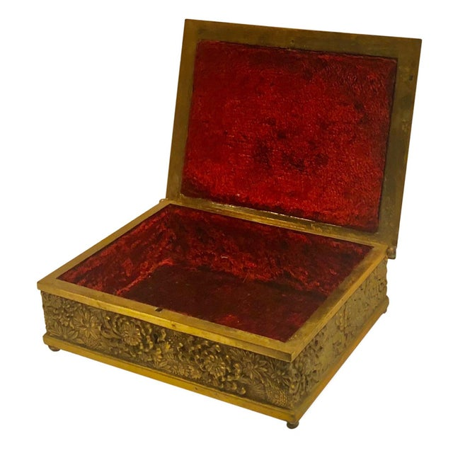 Antique Brass Box Made in France For Sale - Image 4 of 10