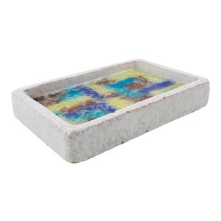 Bitossi Italy Ceramic Glass Mosaic Ashtray Bowl For Sale