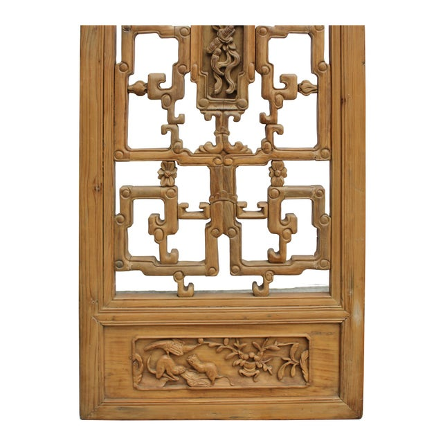 Chinese Vintage Light Brown Relief Motif Wood Wall Hanging Art For Sale - Image 9 of 10