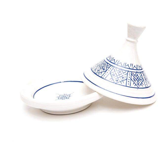 Boho Chic Mini Ceramic Moroccan Serving Tajine For Sale - Image 3 of 3