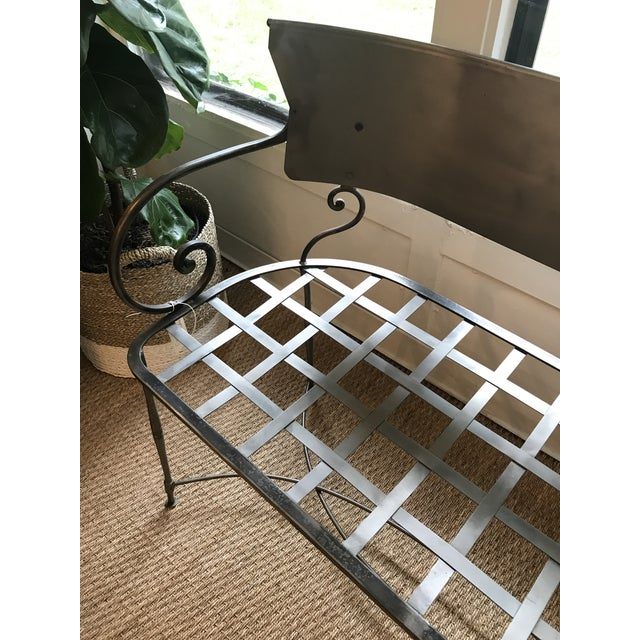 Traditional Traditional Metal Indoor/Outdoor Bench For Sale - Image 3 of 7