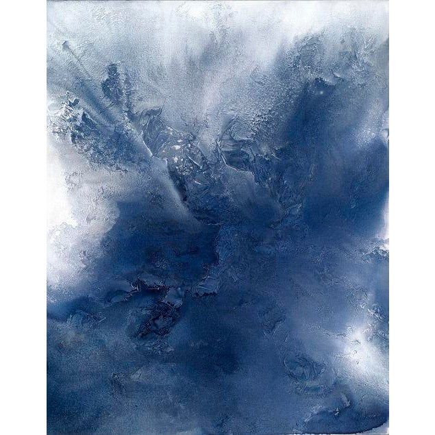 2010s Teodora Guererra, 'Indigo Exhale' Painting, 2016 For Sale - Image 5 of 5