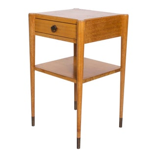 Mid Century Modern Paul Frankl by Brown Saltman, Side Table End Table in Mahogany For Sale