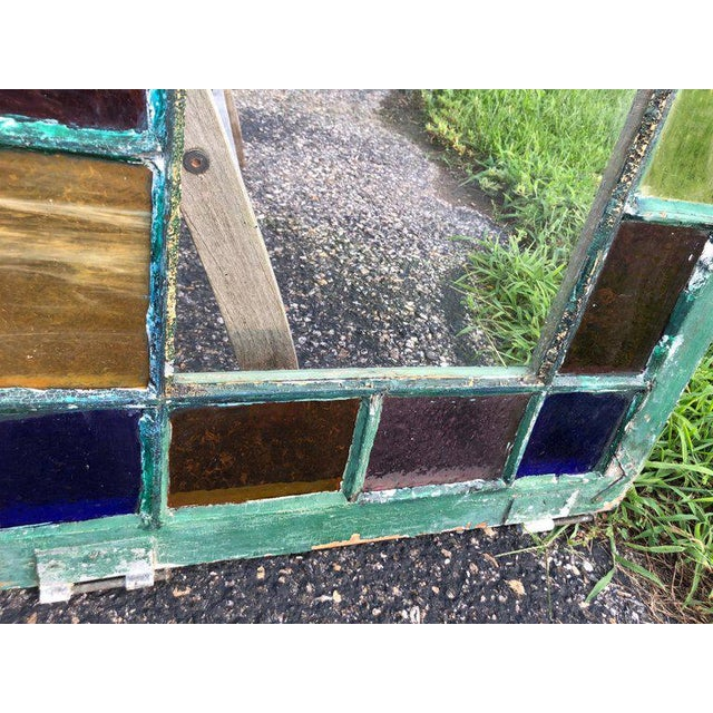 White Stained Glass Windows - a Pair For Sale - Image 8 of 13
