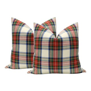 "22"" Tartan Plaid Pillows - a Pair"