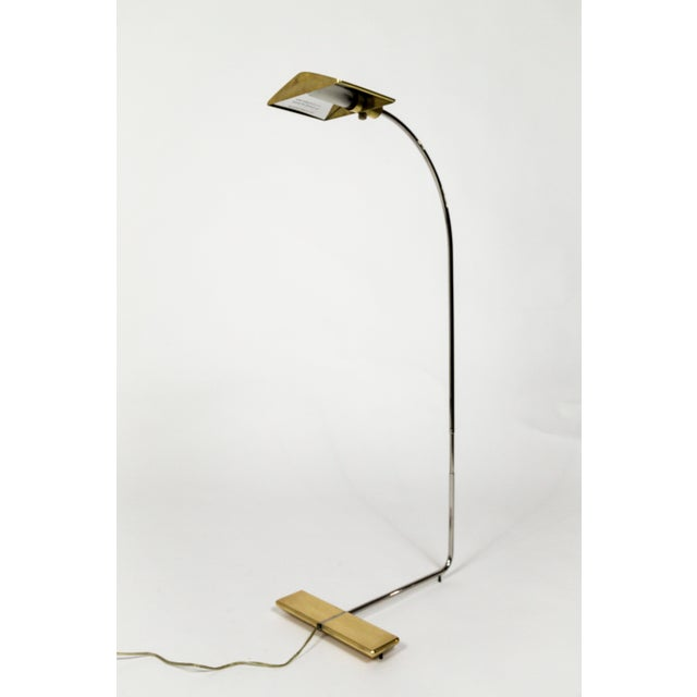 Gold 1970s One of a Kind Cedric Hartman Floor Lamp For Sale - Image 8 of 13