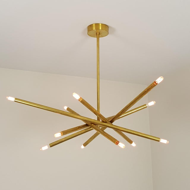 "Model 120 Sculptural Brass ""Nest"" Chandelier by Blueprint Lighting For Sale - Image 5 of 13"