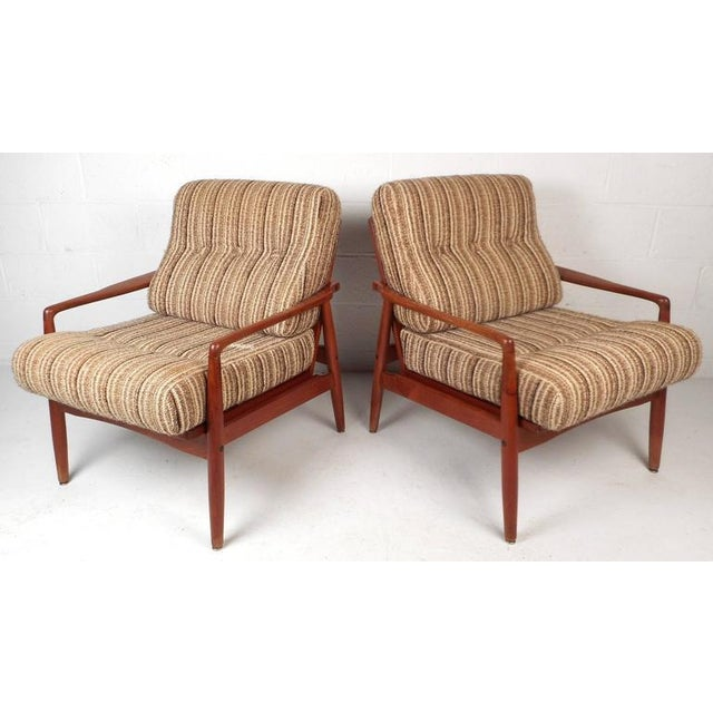 Mid-Century Modern Danish Teak Lounge Chairs - a Pair - Image 4 of 9